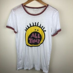 All That logo ringer graphic t shirt